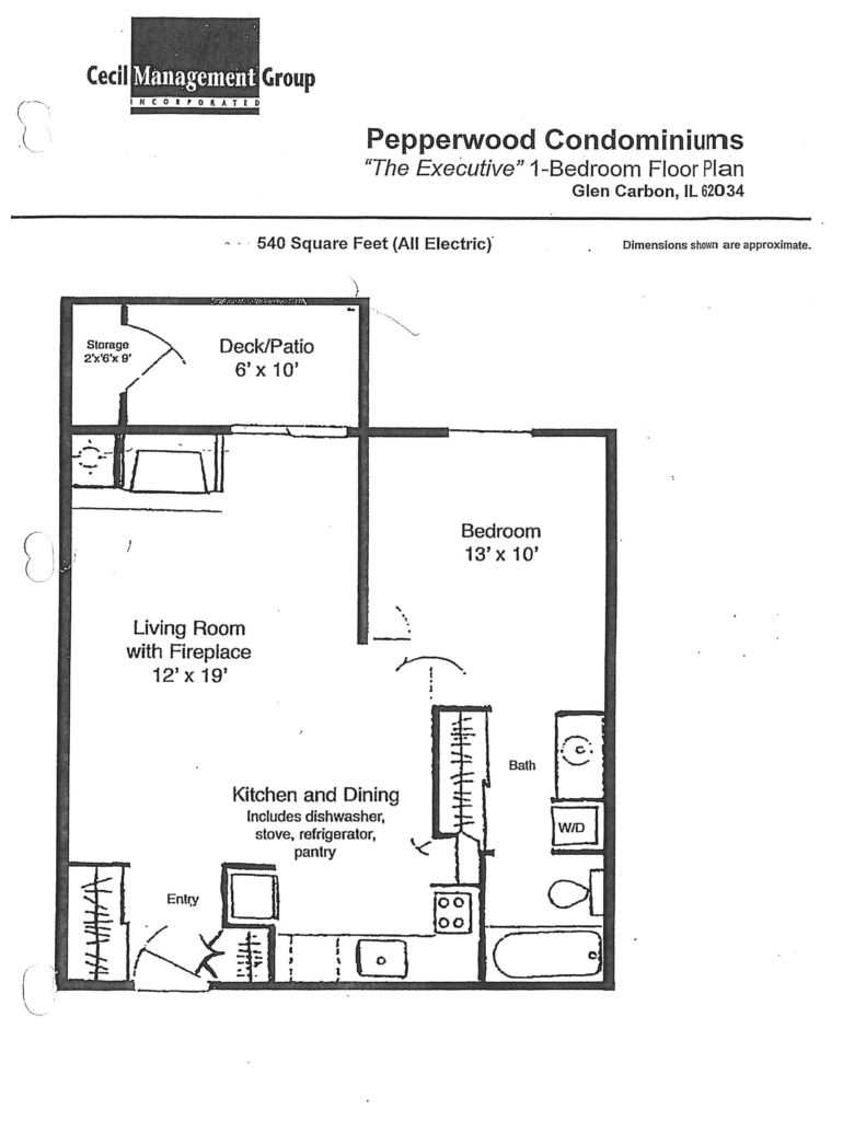 Pepperwood Court - Glen Carbon Executive 1 bed room floor plan