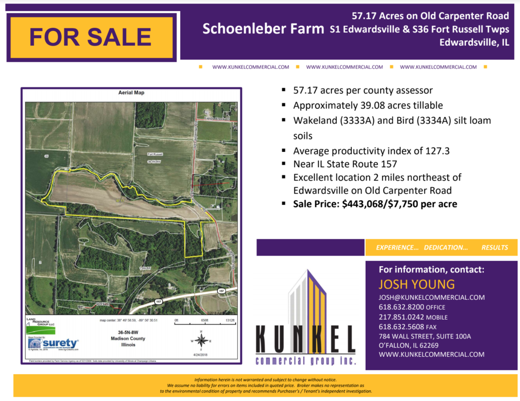 Schoenleber Farm Edwardsville Land for sale