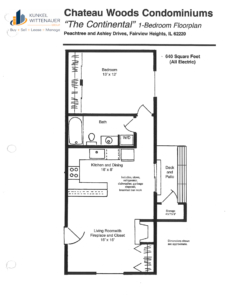 Chateau Woods - Continental Floor Plan